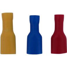 Terminal Aislada Hembra, Color Amarilla, Seccion del Conductor 4 - 6 mm2 / 10 - 12 AWG