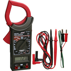 Pinza voltiamperimetrica 3 1/2 dígitos 1.000AAC, 750VAC, 1.000VDC