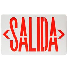SEÑALIZACION (SALIDA) DE EMERGENCIA EN LED ROJO. CON BATERIA DE RESERVA, TIEMPO DE RESPALDO DE 90 MINUTOS. BATERIA DE 3.6V 300mAH. ALIMENTACION DE 120/277VAC 50/60Hz. APROBACION..