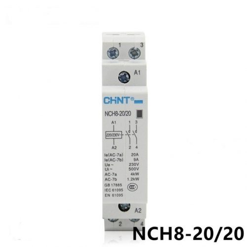 Contactor monofásico 2P 20A Chint NCH8-20-20-230